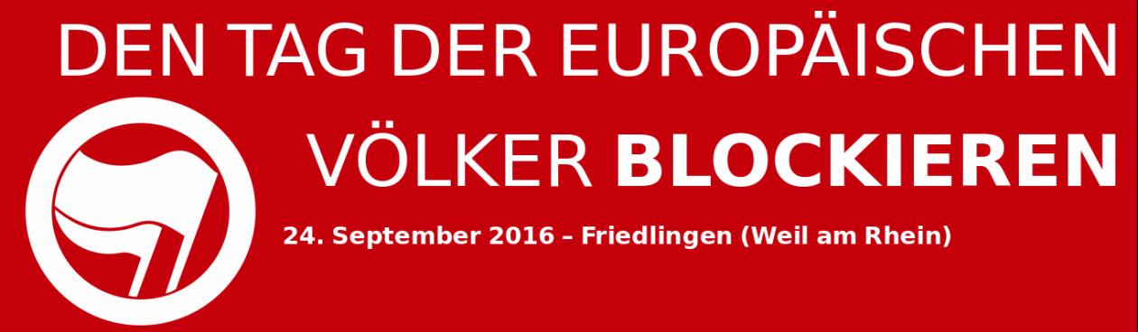 Den Tag der Europäischen Völker blockieren!